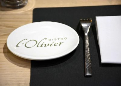 Bistro l'Olivier, assiette Faïence Georges, Nevers