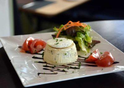 Bistro l'Olivier : Flan au fromage de chèvre